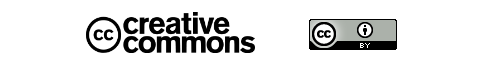 The Creative Commons logo and Attribution License badge.